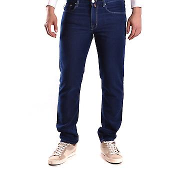 Pt05 Ezbc084022 Men's Blue Cotton Jeans