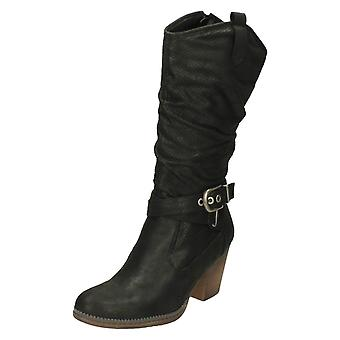 Ladies Down To Earth Calf Length Boots