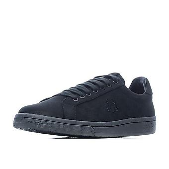 Fred Perry Men's Checkerboard Nubuck Leather Trainers B1201-102