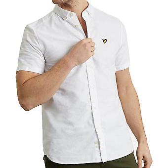 ライルとスコット メンズ半袖オックスフォード シャツ