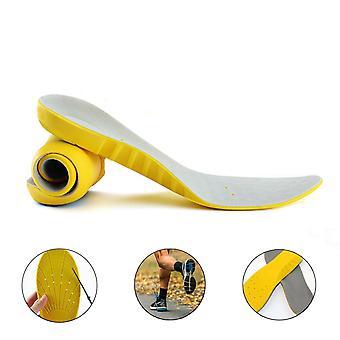 Espuma de memória equipado unissex ortopédico sapato palmilha pés Pads