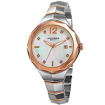 Akribos XXIV femmes Swarovski Crystal date bracelet montre AK932TTR