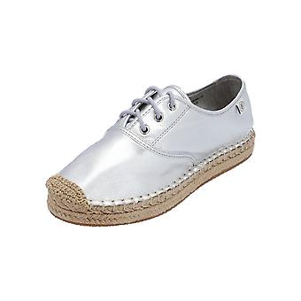 Marc O 'Polo 703-1396802-110 Women's lace-up shoes espadrilles Silver NEW OVP