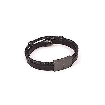 Punk Rock Braided Skull Inner Badass Bracelet