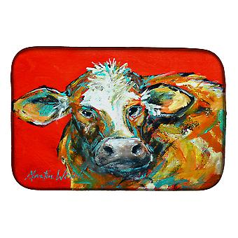 Carolines Treasures  MW1272DDM Caught Red Handed Cow Dish Drying Mat
