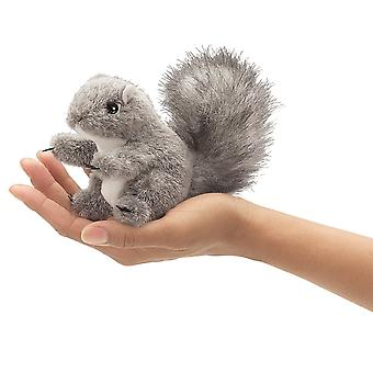 Finger Puppet - Folkmanis - Mini Gray Squirrel New Animals Soft Doll Plush 2648