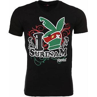 T-shirt-I Love Suriname-Black