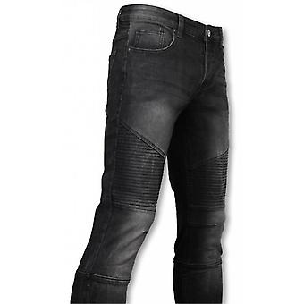 Basic Jeans-Biker Tapered Fit-Black