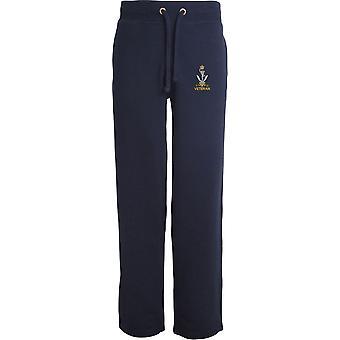Queens Ghurka sinais veterano-licenciado British Army bordado aberto hem Sweatpants/jogging Bottoms