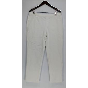 H di Halston Pants Studio Stretch Pull-On White A289511