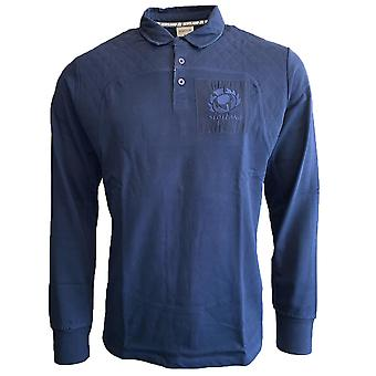 2019-2020 Scotland Macron Rugby Leisure Cotton Rugby Jersey (Navy)