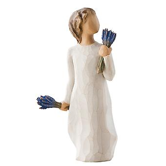 Willow Tree Lavender Grace Hand Painted Figurine