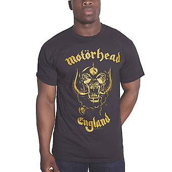 Motorhead T Shirt Engeland gouden Warpig Band Logo officiële Mens nieuwe zwart