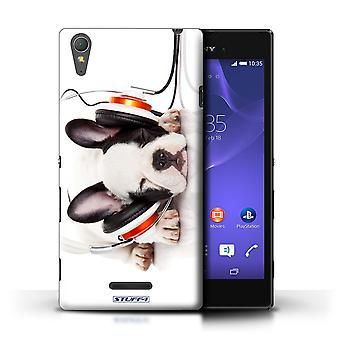 STUFF4 Case/Cover for Sony Xperia T3/Snooze Headphone Dog/Funny Animals