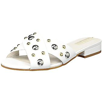 Kenneth Cole New York Womens Verna Leather Open Toe Casual Slide Sandals