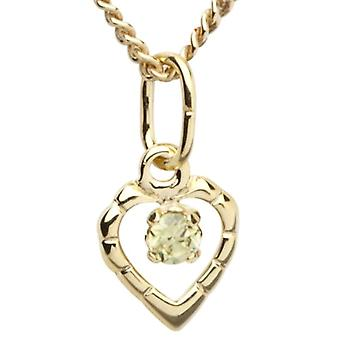 InCollections 7330100007401 - Chain with children's pendant with cubic zirconia - yellow gold 8k (333)