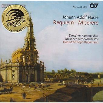 Johann Adolf Hasse - Johann Adolf Hasse: Requiem; Miserere [CD] USA import