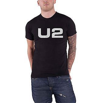 U2 T Shirt Classic Band Logo nouveau noir officiel pour homme