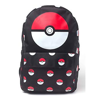 Pokemon Backpack Pokeball All over print new Official Nintendo Gamer Black