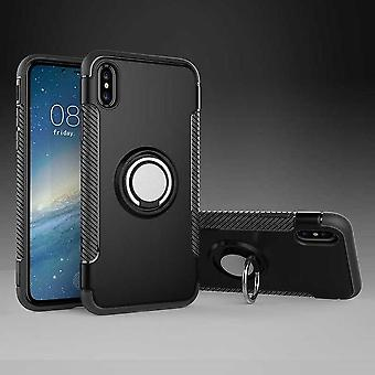 Iphone X/XS hybrid armor shell magnetic case black