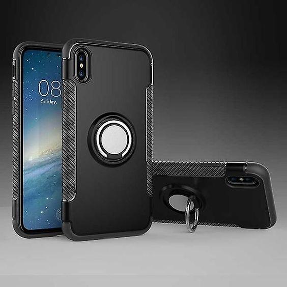 Iphone XR hybrid armor shell magnetic case black