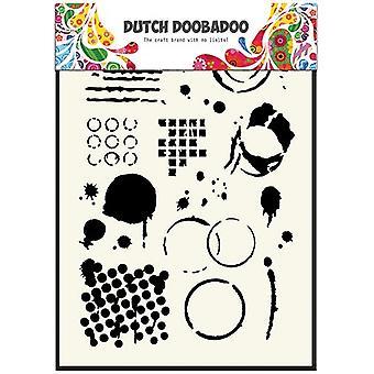 Hollannin Doobadoo A5 naamio taidetta kaavain - geometrinen laatat #5035
