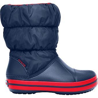 Crocs 14613 vinter puff støvle børn varm foret støvler Navy/rød