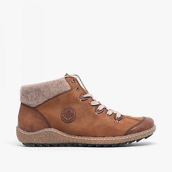 Rieker L7513-23 Damer casual fotled stövlar Brown