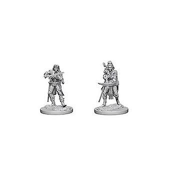 Pathfinder Deep Cuts Unpainted Miniatures Elf Female Bard (Pack of 6)