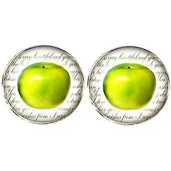 Bassin and Brown Apple Cufflinks - Green