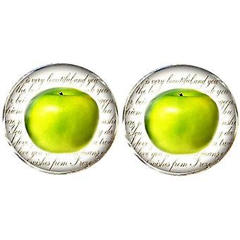 Bassin och Brown Apple manschettknappar-grön