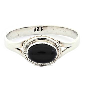 Ring 925 Silber mit Onyx 60 mm / Ø 19.1 mm (KLE-RI-007-03-(60))