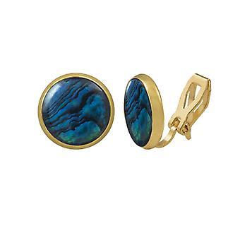 Éternelle Collection symphonie bleue coquillage Paua Stud or Clip boucles d'oreilles