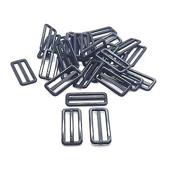 25mm Negro Plástico Delrin 3 Bar Slider Hebillas