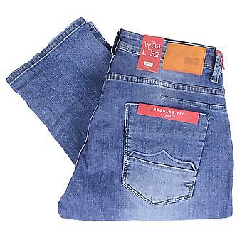 883 Police Regular Fit Mid Wash Jeans
