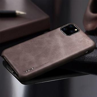 IPhone 11 Pro X-tason Vintage-sarjan Cowboy Texture joustava nahkakotelo, kahvi
