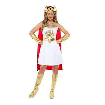 She-Ra Glitter Print Costume Adult White