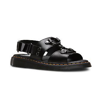 Unisex Aikuiset Dr Martens Xabier Brando Musta Leikattu Open Toe Sandaalit