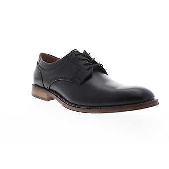 Stacy Adams Faulkner Plain Toe  Mens Black Leather Dress Oxfords Shoes