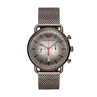 Armani ure Ar11169 brun Mesh Mænds Chronograph Watch