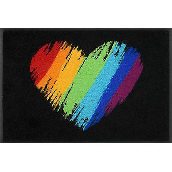 lavabo+ felpudo seco Pride Heart 50 x 75 cm alfombra de suciedad
