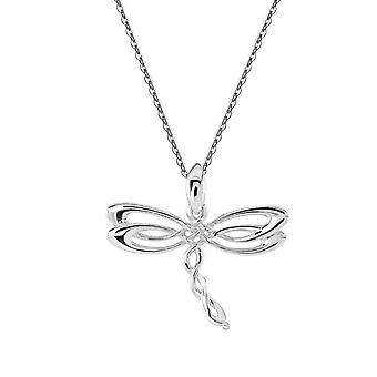 Kit Heath Heritage Sterling Silver Celtic Creatures Dragonfly Pendant 9254HP