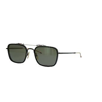 Thom Browne TBS816 Black Black Iron White Gold Temple G15 Sunglasses