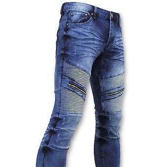 Jeans - Biker Jeans Ribbing- 3023 - Blue