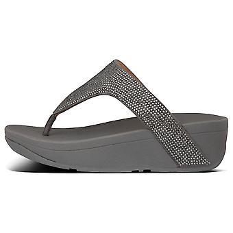 Fitflop™ Lottie Pewter Shimmercrystal Toe Post Sandal