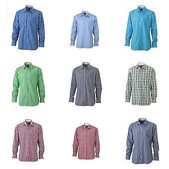 James en Nicholson Mens gecontroleerd Shirt