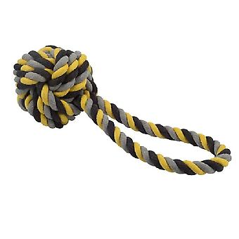 Ancol Jumbo Jaws Rope Ball Tugger Dog Toy