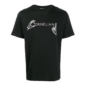 Corneliani 84g5879825042020 Men's Black Cotton T-shirt