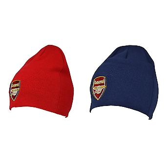 Arsenal FC Official Adults Knitted Football Crest Winter Beanie Hat