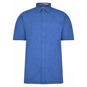 PETER GRIBBY Peter Gribby Linen Mix Short Sleeve Shirt